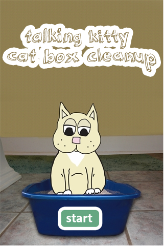 talking kitty cat box cleanup
